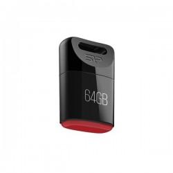 8 GB USB kľúč . Silicon Power TOUCH T06, čierny (odolný voči vode, prachu a nárazom) SP008GBUF2T06V1K
