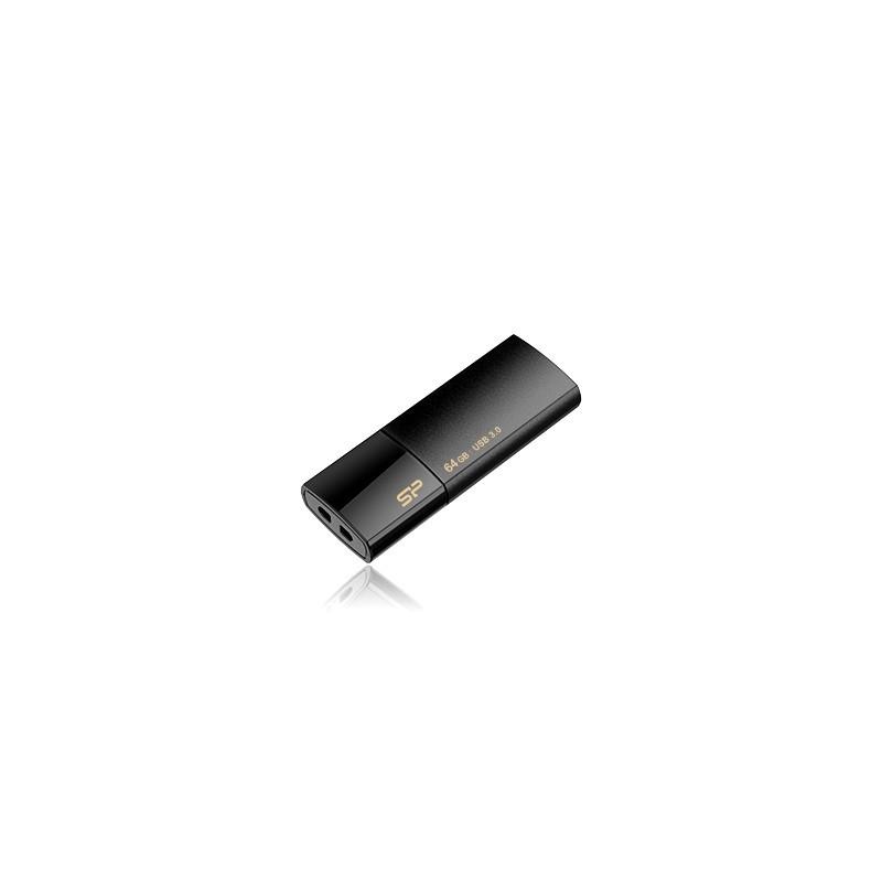 8 GB USB 3.0 kľúč . Silicon Power Blaze B05, čierny SP008GBUF3B05V1K