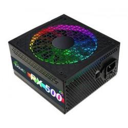 EVOLVEO RX 500, zdroj 500W ATX, RGB rainbow vent. 14cm, tichý, 80+, bulk czerx500