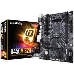 Gigabyte B450M S2H, AM4,2x DDR4-3200, D-Sub, DVI-D, HDMI