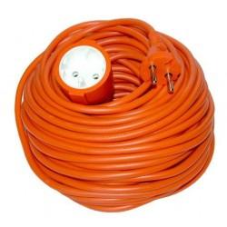 Solight predlžovací kábel - spojka, 1 zásuvka, oranžová, plochá,...