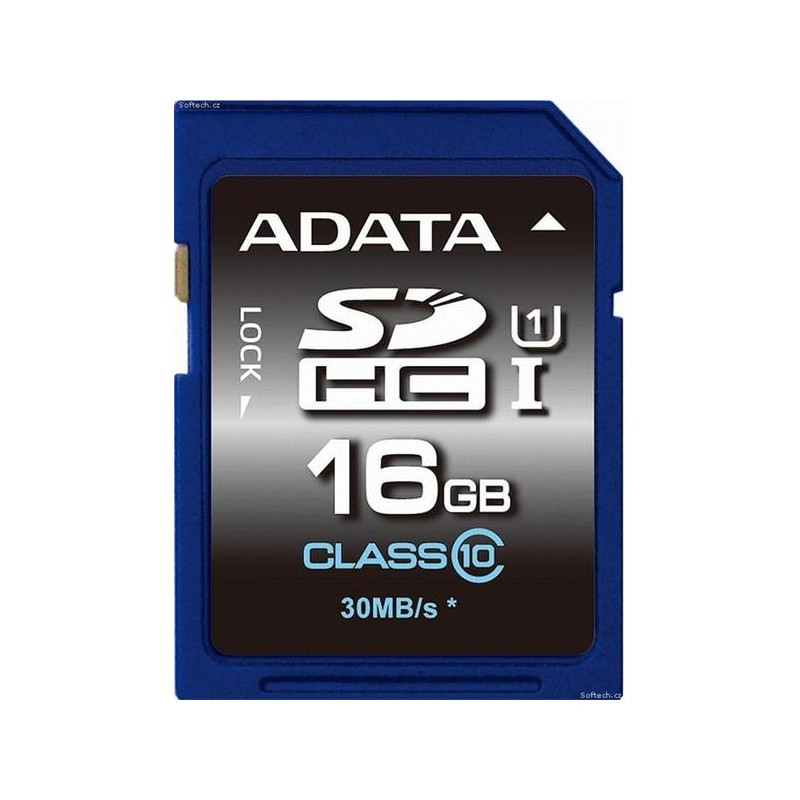 16 GB SDXC/SDHC Premier UHS-I karta A-DATA class 10 Ultra High Speed ASDH16GUICL10-R