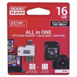 16 GB microSDHC karta GOODRAM Class 10 UHS I + čítačka (All in One) M1A4-0160R12