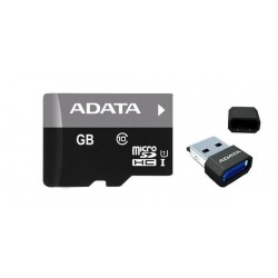 32 GB microSDHC/SDXC UHS-I karta A-DATA class 10 Ultra High Speed + micro-čítačka V3 AUSDH32GUICL10-RM3BKBL