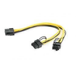 Gembird PCI-Express 8-pin to 2x PCIe 6+2 pin power splitter cable, 0.3 m CC-PSU-85