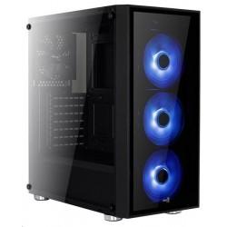 Aerocool MLG Quartz RGB skrinka ATX, čierna, bez zdroja MLGQUARTZ9