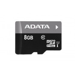 8 GB microSDHC UHS-I karta A-DATA class 10 Ultra High Speed + adapter AUSDH8GUICL10-RA1