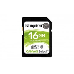 16 GB SDHC karta Kingston Canvas Select Class 10 UHS-I ( r80MB/s, w10MB/s ) SDS/16GB.