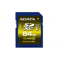 64 GB SDXC/SDHC Premier UHS-I karta A-DATA class 10 Ultra High Speed ASDX64GUICL10-R