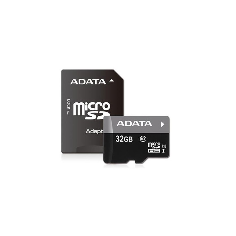 32 GB microSDHC/SDXC UHS-I karta A-DATA class 10 Ultra High Speed + adaptér AUSDH32GUICL10-RA1