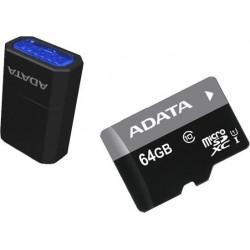 64 GB microSDHC/SDXC UHS-I karta A-DATA class 10 Ultra High Speed + micro-čítačka V3 AUSDX64GUICL10-RM3BKBL