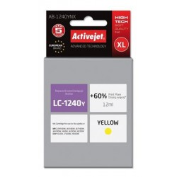 ActiveJet ink cartr. Brother LC-1240Y - 12 ml - 100% NEW AB-1240YNX EXPACJABR0032