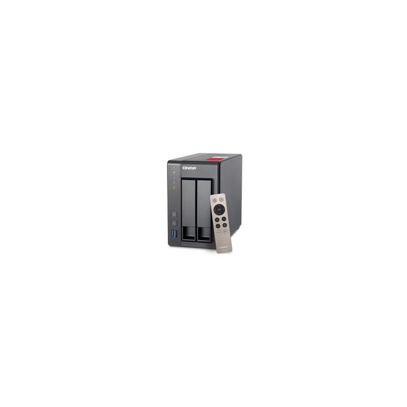 QNAP TS-251+ Turbo NAS server, 2,4 GHz QC/2GB/2x HDD/2xGL/HDMI/USB 3.0/Raid 0,1/iSCSI/DO UMNP00362