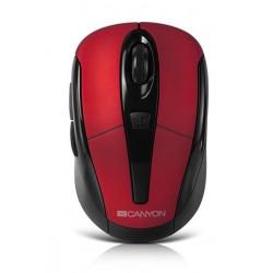 Canyon CNR-MSOW06R, Wireless optická myš USB, kompaktná, vhodná k notebookom, červená, 1600dpi