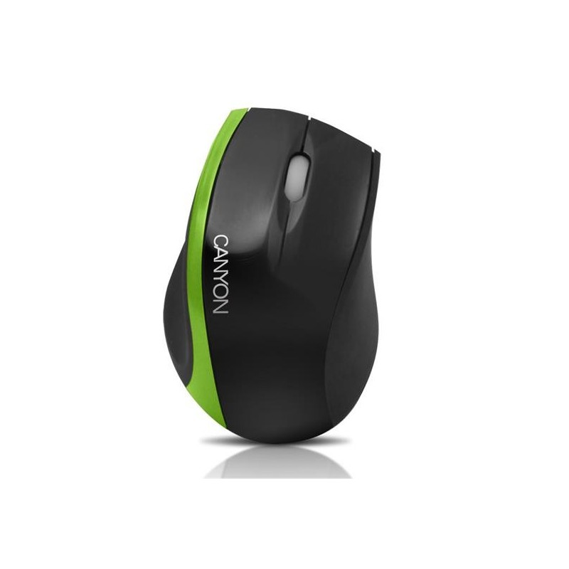 Canyon CNR-MSO01NG, optická myš, USB, čierno-zelená, 800 dpi