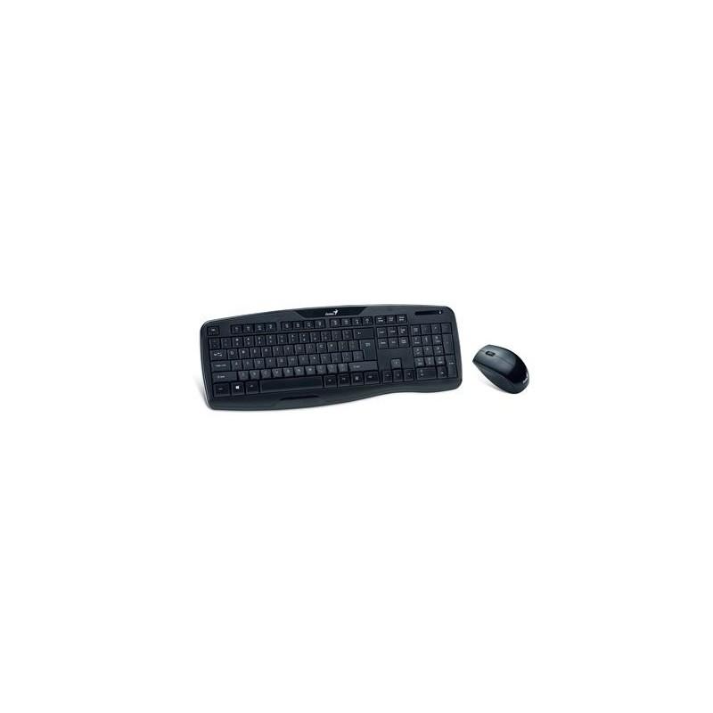 Genius KB-8000X. Wireless klávesnica+myš. SK. Čierna, USB, bezdrôtová GENKB8000XUSB
