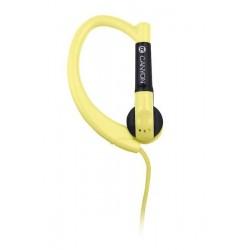 Canyon CNS-SEP1Y slúchadlá do uší pre športovcov, integrovaný mikrofón, háčik za ucho, žlté