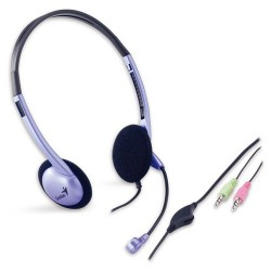 Genius slúchadla s mikrofónom HS-02B s ovladanim hlasitosti SKGEHS02B