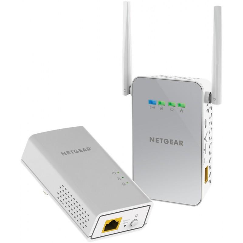Netgear Powerline 1000Mbps AC650 1PT GbE Adapters Bundel + WiFi (PLW1000) PLW1000-100PES