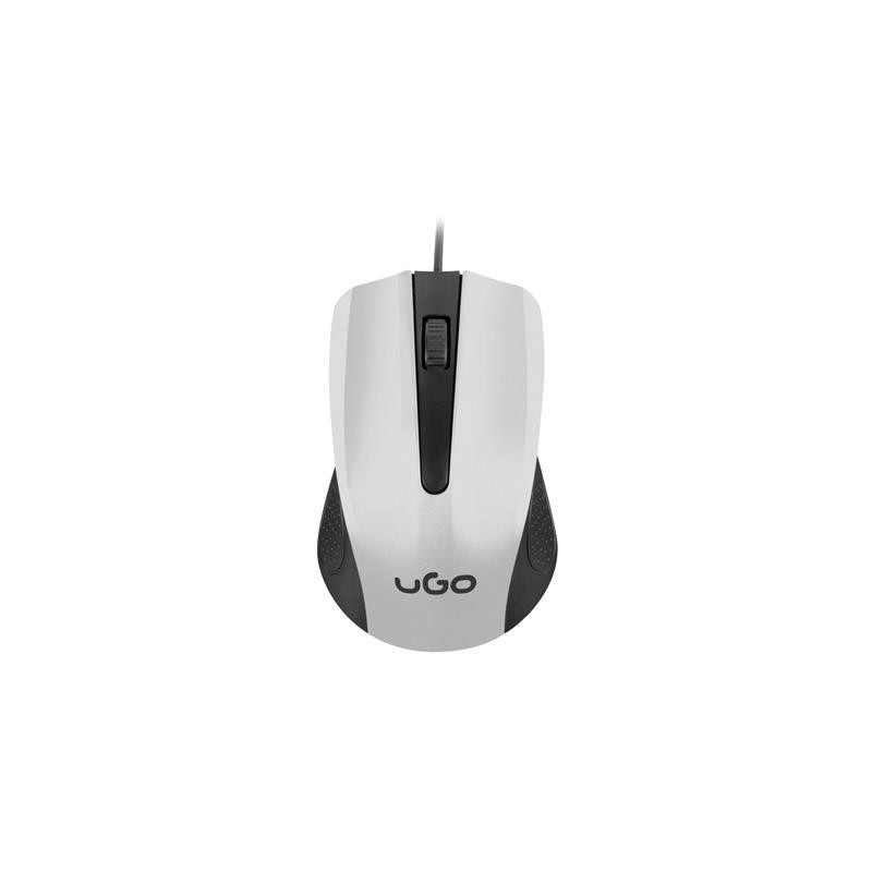 UGO Optic mouse 1200 DPI, White-Black UMY-1216