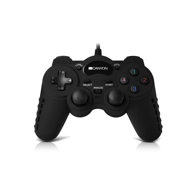Canyon CNS-GP4 Gamepad 3v1, drôtový, vibrácie, chladenie, pre PC/PS2/PS3