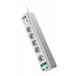 APC Essential SurgeArrest prepäťová ochrana 5 zás. 230V, 2 port USB Charger, 1,8m prívodný kábel PM5U-FR