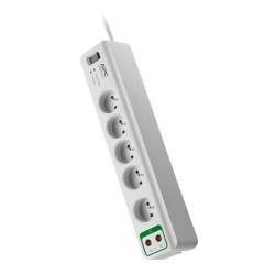 APC Essential SurgeArrest prepäťová ochrana 5 zás. + Coax Protection, 1,8m prívodný kábel PM5V-FR