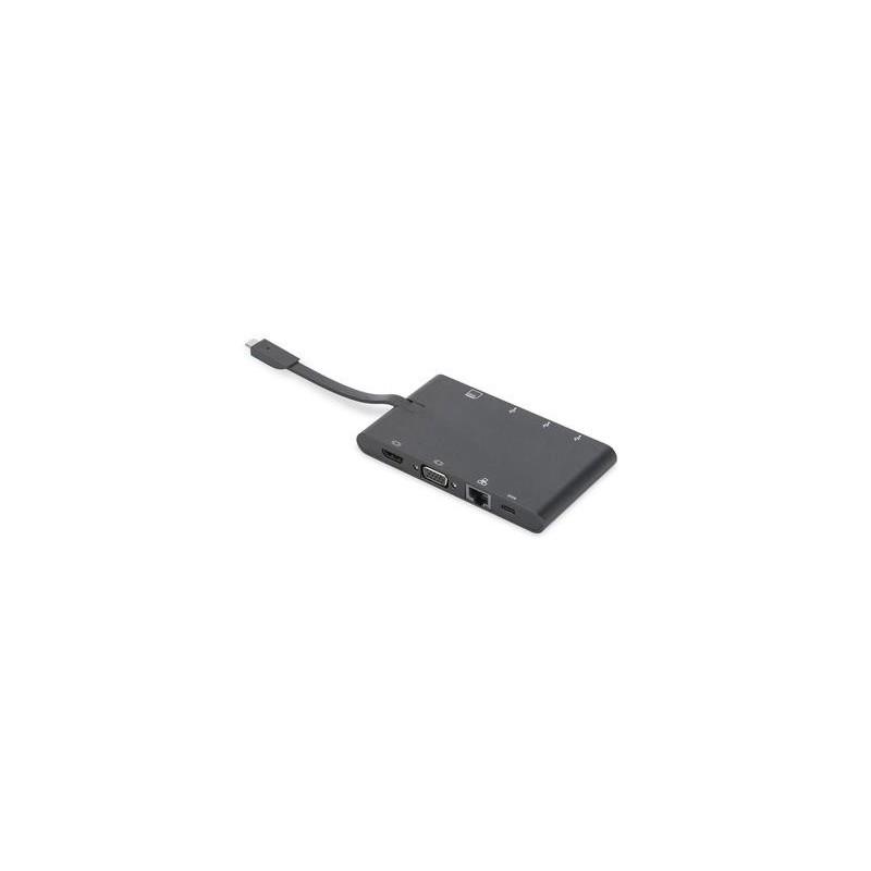 Universal Travel Docking Station USB Type C, 9-port, Dual Monitor, 4K 30Hz, DA-70865