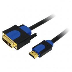 LOGILINK - Kábel HDMI-DVI, dĺžka 2m CHB3102