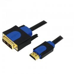 LOGILINK - Kábel HDMI-DVI, dĺžka 3m CHB3103