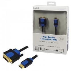 LOGILINK - Kábel HDMI-DVI, dĺžka 1m CHB3101