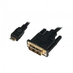 LOGILINK - Mini HDMI-DVI-D kábel, M/M, 3m CHM005