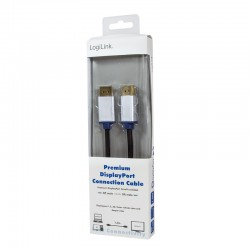 LOGILINK - Premium DisplayPort Cable, DP Male to DP Male, 1.5m BDPM15