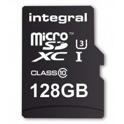 INTEGRAL Pamäťová karta UltimaPro micro SDXC UHS-I 128GB CL10 +SD adaptér INMSDX128G10-90U1