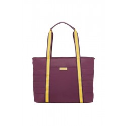 Tote Bag American T. 64G81002 UPTOWN VIBES 14,1'com,doc,pock, purple/yellow 64G-81-002