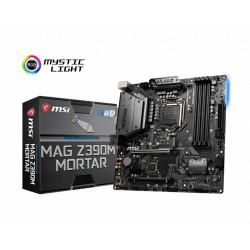 MSI MAG Z390M MORTAR, LGA 1151, 4DDR4, 2PCI-Ex16, PCI-Ex1, 2M.2, 4SATA3, 3USB3.1