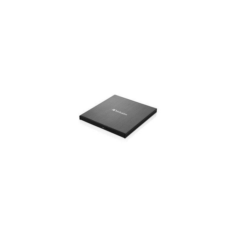 Verbatim Ultra HD 4K External Slimline Blu-ray Writer USB 3.1 with USB-C to A 43888