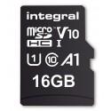 INTEGRAL Pamäťová karta micro SDHC 16GB 100V10, Read 100MB/s U1 V10 + ADAP INMSDH16G-100V10