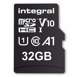 INTEGRAL Pamäťová karta micro SDHC 32GB 100V10, Read 100MB/s U1 V10 + ADAP INMSDH32G-100V10