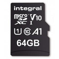 INTEGRAL Pamäťová karta micro SDXC 64GB 100V10, Read 100MB/s U1 V10 + ADAPTER INMSDX64G-100V10