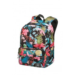 Backpack American T. 24G69022 UG LIFESTYLE BP 1,docu, pockets, Black Floral 24G-69-022