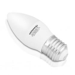 Whitenergy PAK 10x LED žiarovka | C37| E27 | 5W | 230V | teplá biela| mlieko 10393-pack