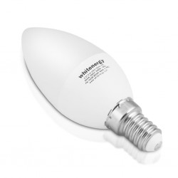 Whitenergy LED žiarovka   8xSMD2835  C37   E14   7W   teplá biela  mlieko x10 10394-pack