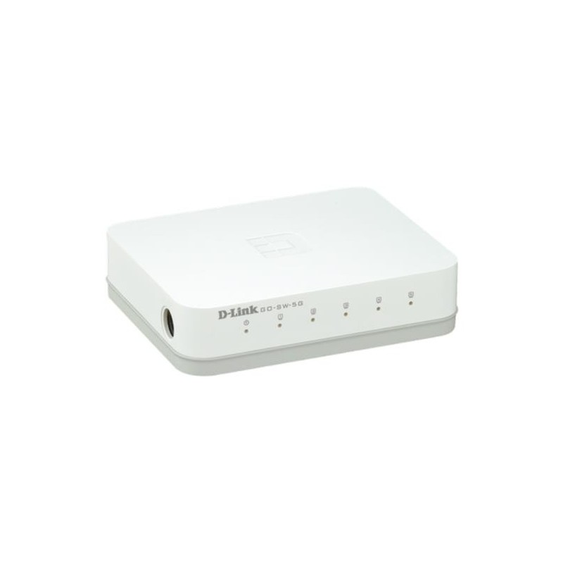 D-Link GO-SW-5G 5-Port 1Gb EASY desktop switch GO-SW-5G/E