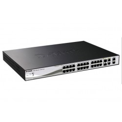D-Link DES-1210-28P 24-port 10/100 Smart Switch + 2x SFP + 2x Gb, PoE