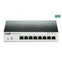 D-Link DGS-1100-08P 8-Port 1Gb EasySmart Switch, PoE