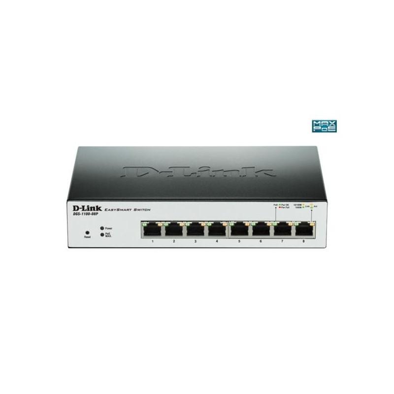 D-Link DGS-1100-08P 8-Port 1Gb EasySmart Switch, PoE