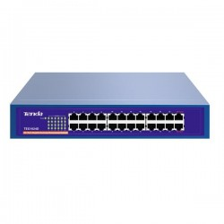 "Tenda TEG1024D 24-Port 1000Mbps Desktop Gigabit Switch (kov), +19"" rackmount"