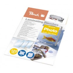Peach Laminating Pouch Photosize 10x15 cm (106x156 mm), 125mic, S-PP525-20