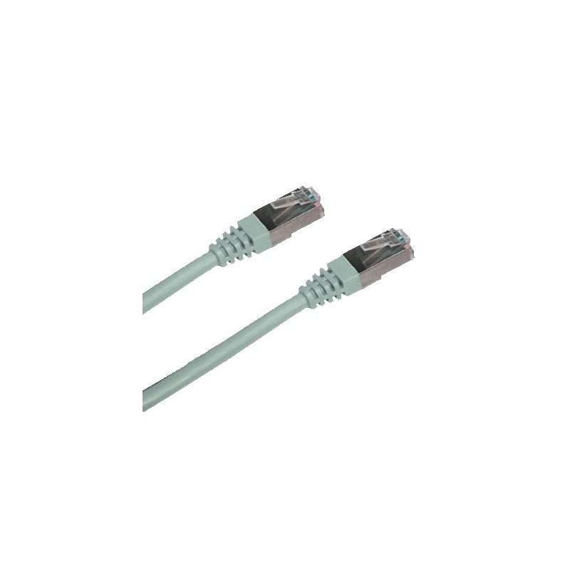 CNS patch kábel Cat6A, S-STP, LSOH - 10m , šedý PK-SSTP6A-100-GR